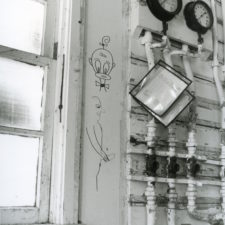 Graffiti inside a building, BAAP, 2003