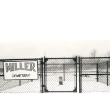 Miller Cemetery, one of three cemeteries on BAAP grounds, 2000