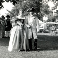 Actual wedding in authentic dress at Prairie du Chien, 1996