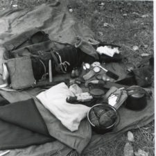Contents of recreated voyageur's pack, 1996