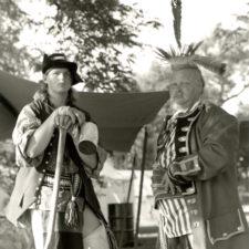 Two voyageurs, Prairie du Chien, 1996