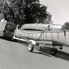 voyageur arriving by wheels at Prairie du Chien, 1996